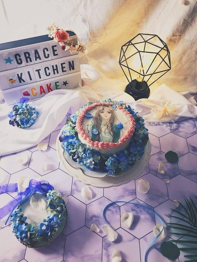 梦幻蛋糕竟像灵堂照